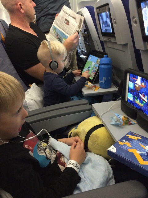 Hjælpemidler til flyveturen