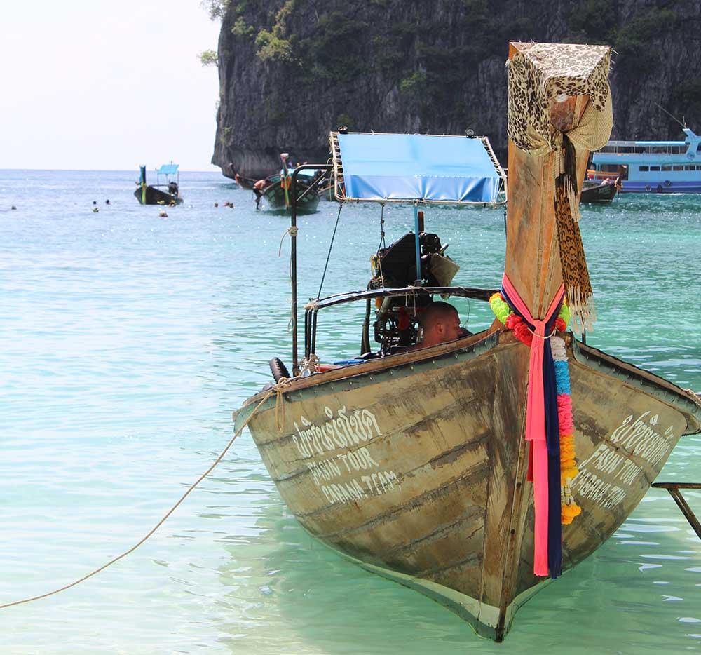 Maya Beach longtail boat